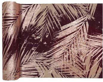 Imagens de Camino de mesa Hojas rosa dorado (3m)