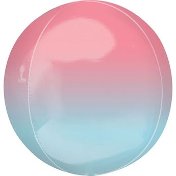 Imagen de Globo dos tonos Ombre rojo y azul esférico (1)