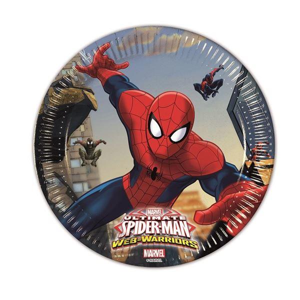 Imagen de Platos Spiderman Warrior pequeños (8)