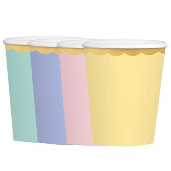 Imagen de Vasos colores pastel surtidos grandes (8)