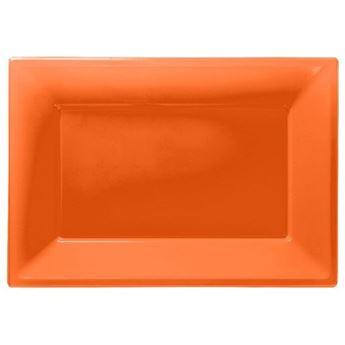 Picture of Bandejas naranja plástico (3)