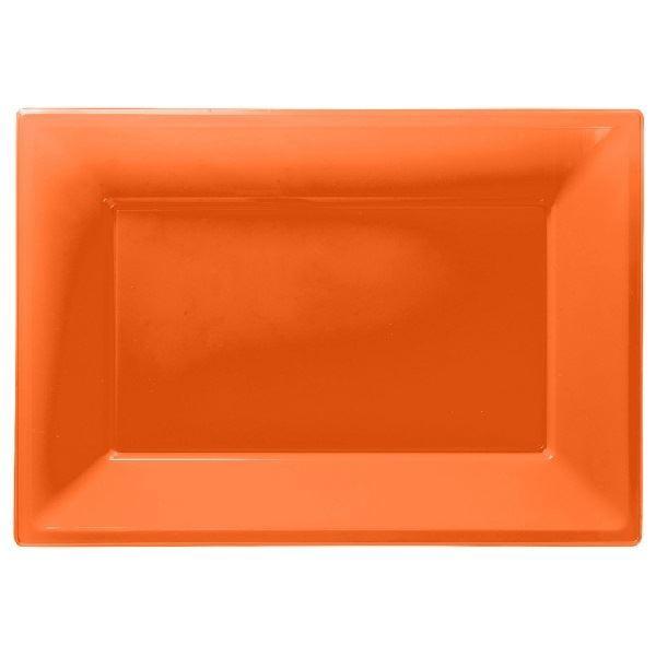 Imagen de Bandejas naranja plástico (3)