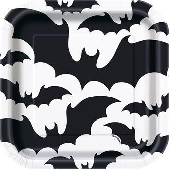 Imagen de Platos blancos murciélagos (10)