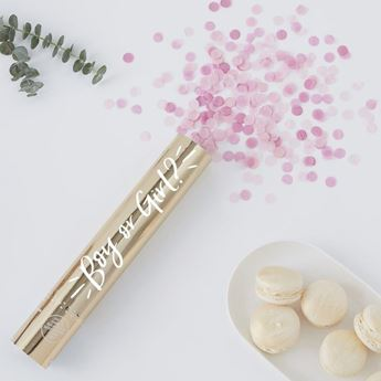 Picture of Cañón de confeti Revelación Gender Reveal Es niña