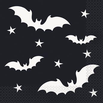 Imagen de Servilletas negras con murciélagos (16)
