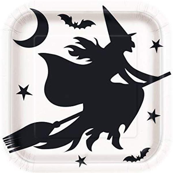 Imagens de Platos blancos Murciélagos y brujas (8)