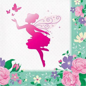 Imagens de Servilletas Hadas y mariposas flores grandes (16)