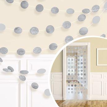 Imagen de Tiras círculos plata (6)