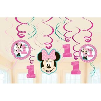 Picture of Decorados espirales Minnie Mouse 1 añito