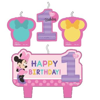 Picture of Vela set Minnie Mouse 1 añito (4)