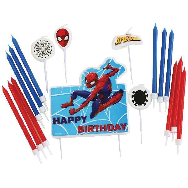 Imagen de Set decoración velas Spiderman