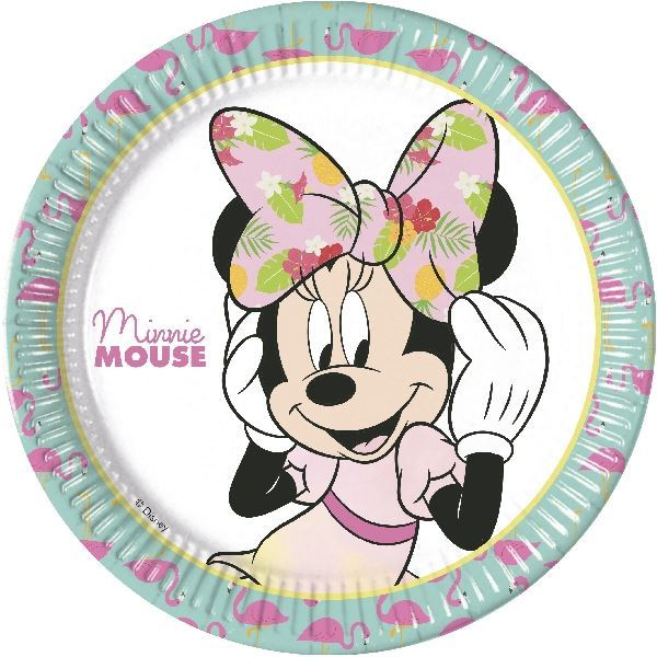 Picture of Platos Minnie Mouse Tropical Grandes (8)