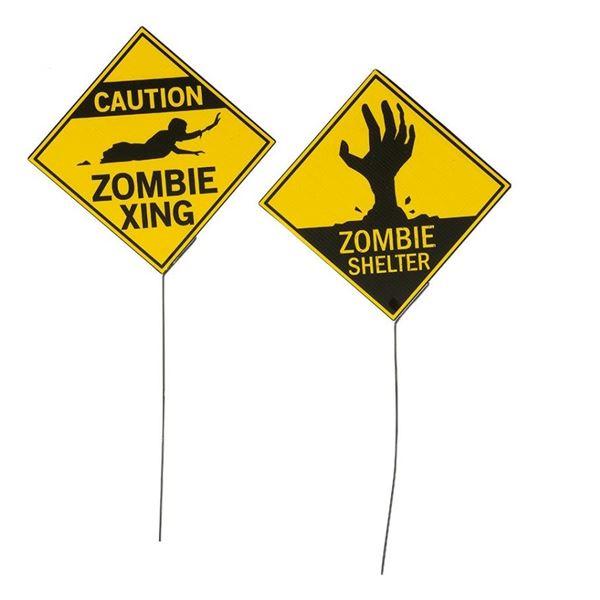 Imagen de Cartel peligro zombie (2)