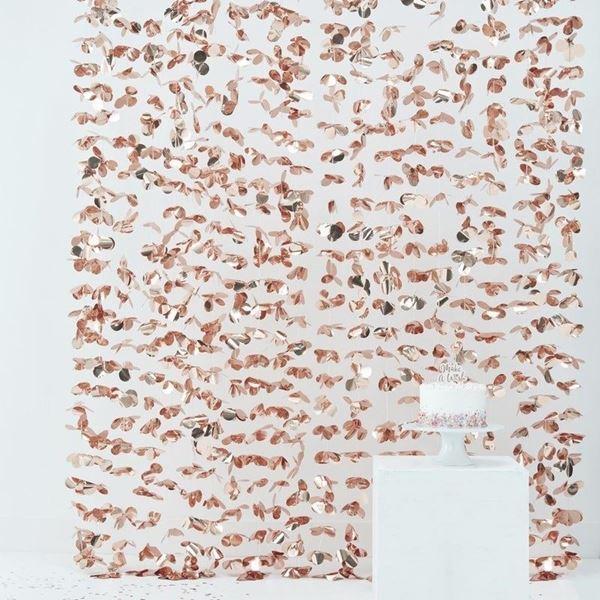 Picture of Decorado cascada flores rosa dorado