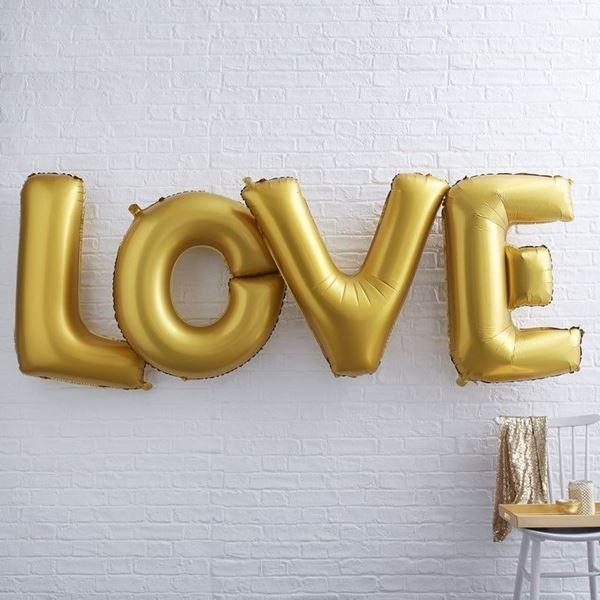 Imagens de Globos Love dorados gigantes (4)