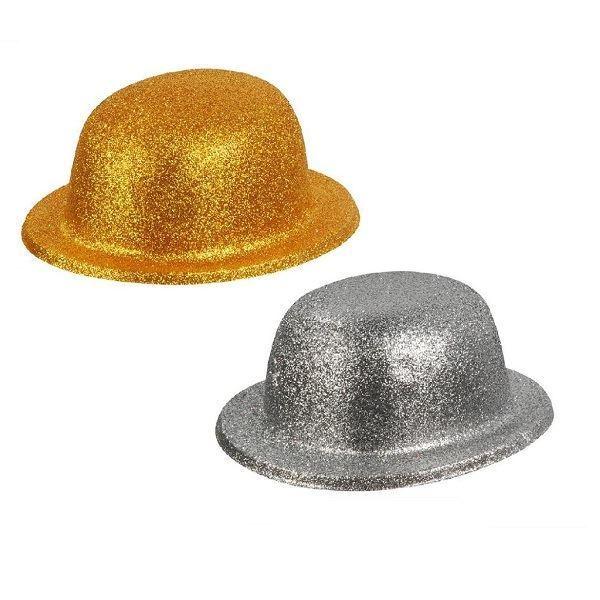 Imagens de Bombín purpurina dorado y plata (2)