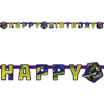 Picture of Banner Happy Birthday Tortugas Ninja