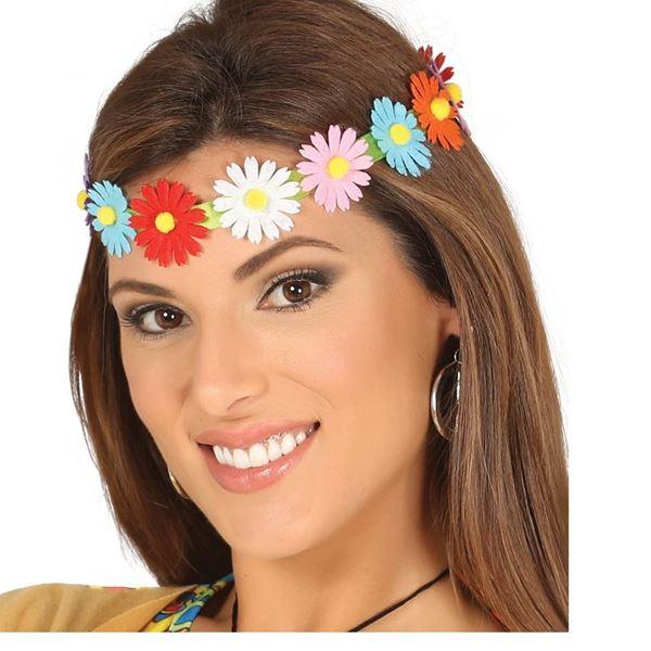 Imagen de Diadema pelo Flores multicolor
