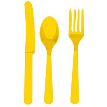 Imagens de Cubiertos amarillos reutilizables (8x3)