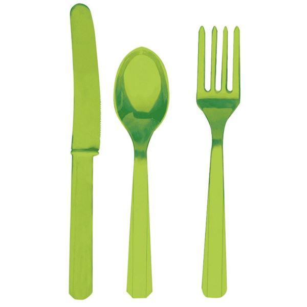Picture of Cubiertos verde claro reutilizables (8x3)