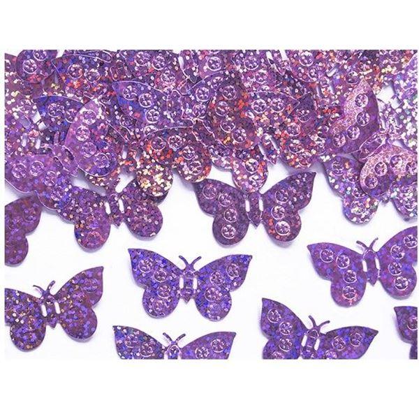 Picture of Confeti Mariposas Rosa claro Holográfica (15g)