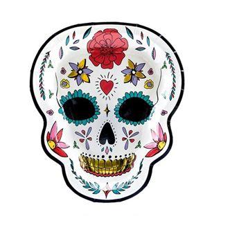 Imagen de Platos Catrina forma Día de los Muertos (6)