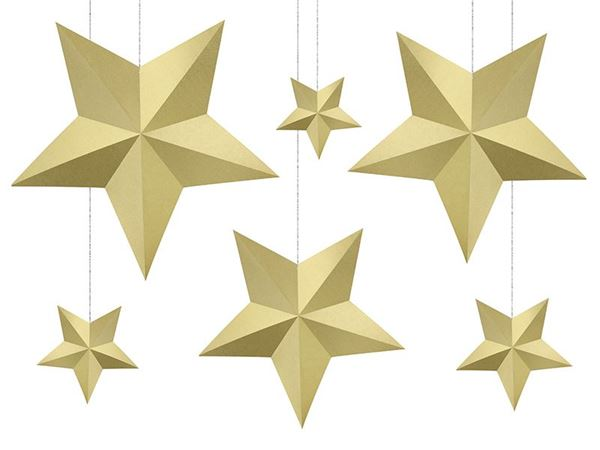 Imagens de Decorados estrellas Doradas colgantes (6)