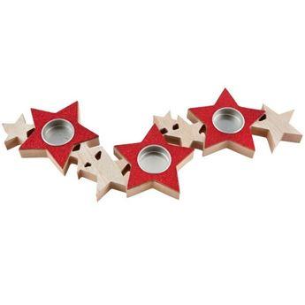 Picture of Portavelas estrellas Rojo
