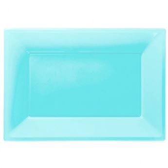 Imagen de Bandejas azul claro plástico (3)