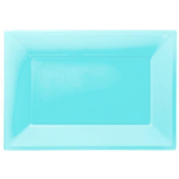 Picture of Bandejas azul claro plástico (3)