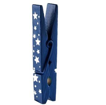 Imagen de Pinzas mini Azules estrellas (4)