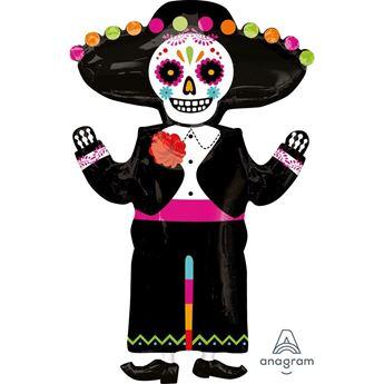 Imagen de Globo Esqueleto Día de los Muertos