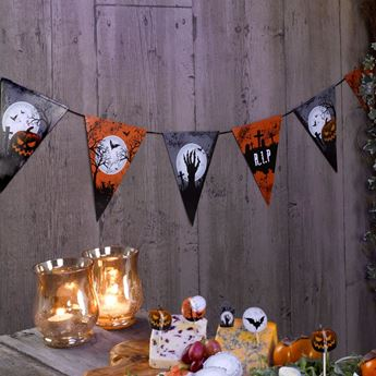 Picture of Banderin Zombies Halloween papel (2,5m)