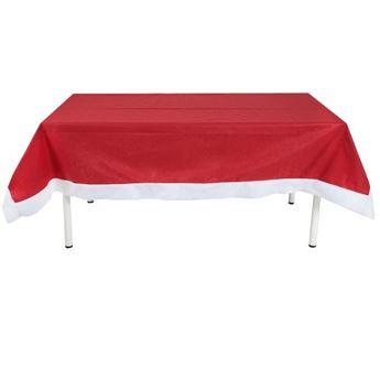 Imagen de Mantel rojo Navideño rectangular