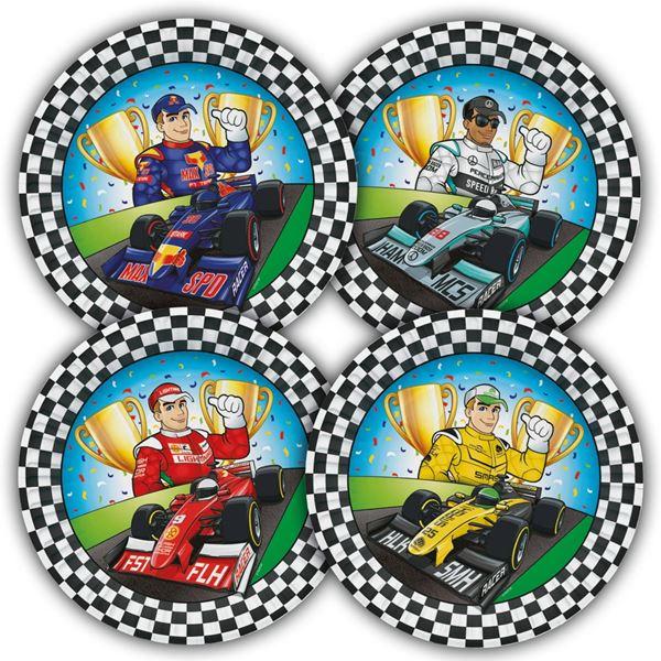 Imagen de Platos Coches Fórmula 1 cartón (8)