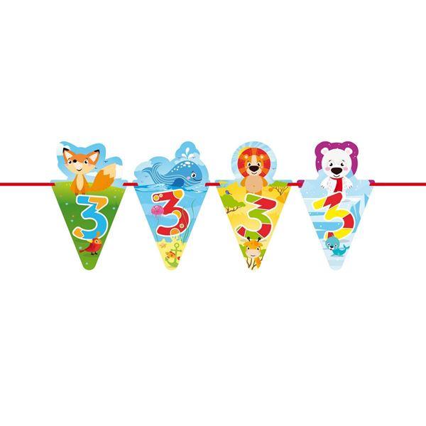 Imagen de Banderín 3 infantil animales (6m)