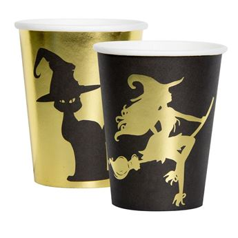 Picture of Vasos Halloween Dorado y negro (8)
