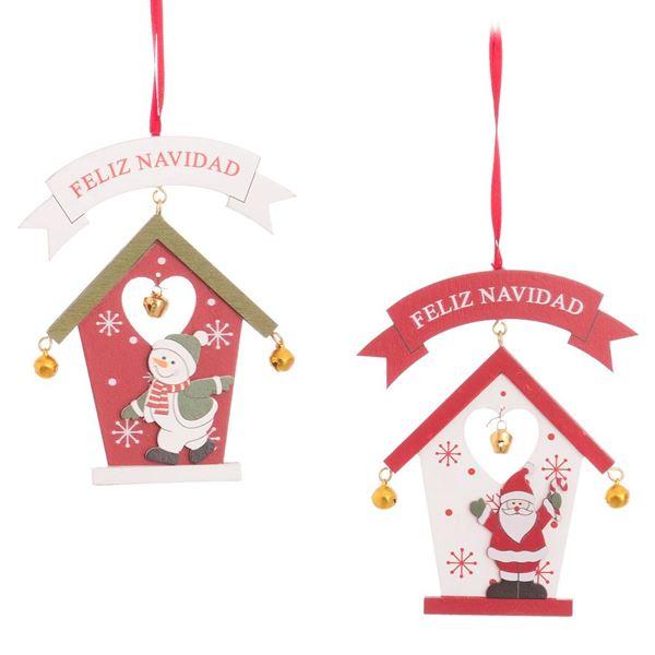 Imagen de Colgante casita de madera Navidad (2)