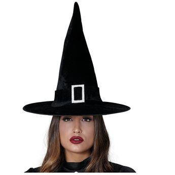 Imagens de Gorro bruja Terciopelo negro con Hebilla