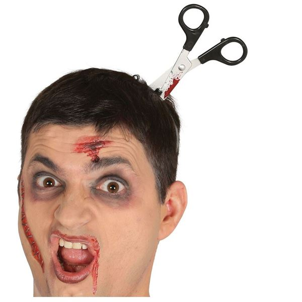 Picture of Diadema Tijeras cabeza halloween