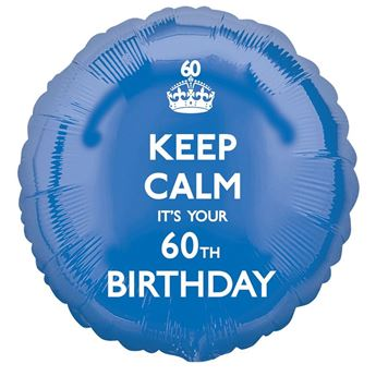 Picture of Globo 60 años Keep Calm azul