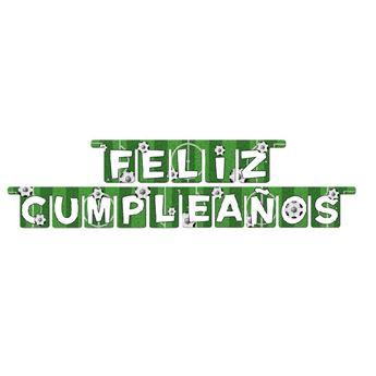 Imagen de Guirnalda Letras Feliz cumpleaños Fútbol