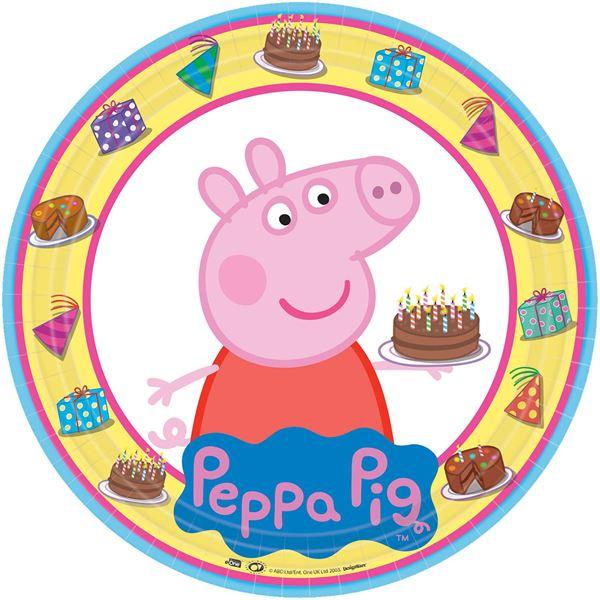 Imagen de Platos Peppa Pig Tarta (8)