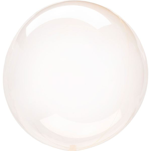 Picture of Globo burbuja transparente naranja plástico 45cm