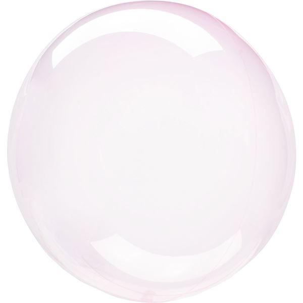 Imagens de Globo burbuja transparente rosa claro plástico 45cm