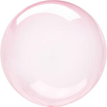 Picture of Globo burbuja transparente rosa fuerte plástico 45cm