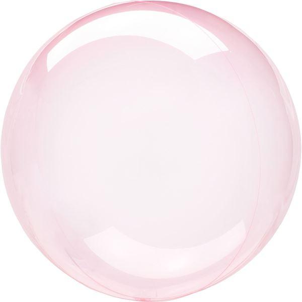 Imagen de Globo burbuja transparente rosa fuerte plástico 45cm