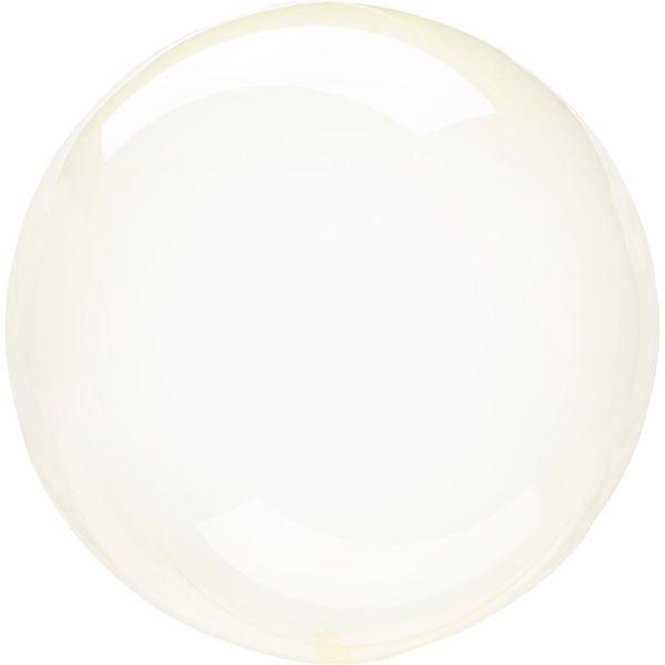 Imagen de Globo burbuja transparente amarillo plástico 45cm