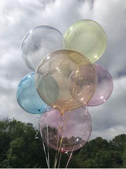 Imagens de Globo burbuja transparente azul plástico 45cm