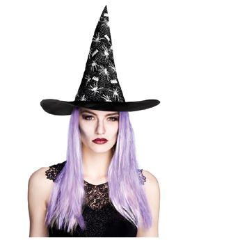 Imagens de Gorro bruja arañas con pelo morado